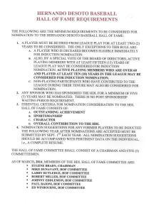 HoF Induction Criteria