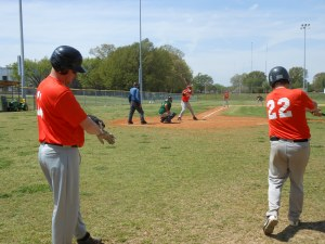 Cory Morgan, Andrew Waddell, Kevin High At bat